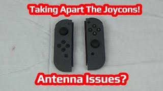 Taking Apart The Nintendo Switch JoyCons! Antenna Issues?