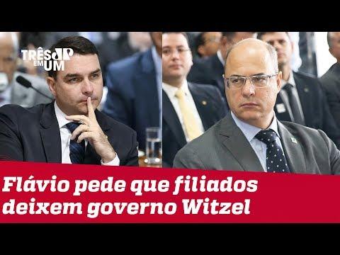 Flávio Bolsonaro pressiona filiados do PSL a deixarem governo Witzel