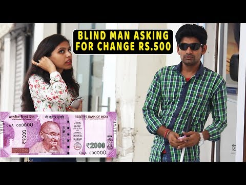 Blind Man Asking for Rs.500 Change - Social Experiment THF | Pranks In India | Ab Mauj Legi Dilli