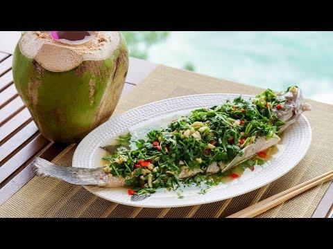 【曼达小馆】面朝大海,春暖花开,我反手就蒸了个鱼:泰式蒸鱼&斑斓椰奶冻
