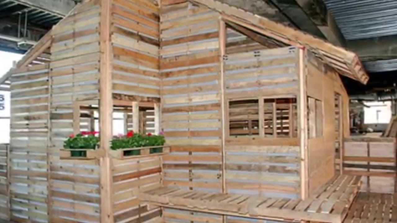 This pallet home can be built in one day with basic tools for Custom build your home