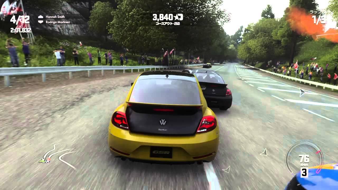DRIVECLUB 日本コース 高萩山道 volkswagen beetle gsr VW ザ・ビートルレーサー - YouTube