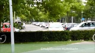 A1/Prio 1 Ambu 18-340/Politie naar zwembad de Louwert in H.I.Ambacht.