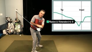 Using Hackmotion sensor to measure transition from wrist flexion to extension, Brian Manzella