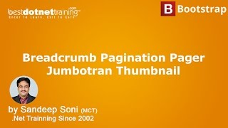 learn bootstrap tutorial bootstrap pagination breadcrumb pager jumbotran create thumbnails