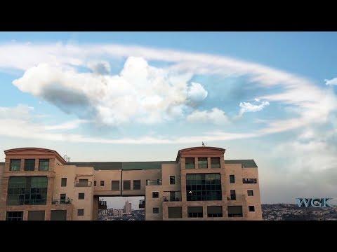 Ring Cloud Makes Trumpet Sound Over Jerusalem