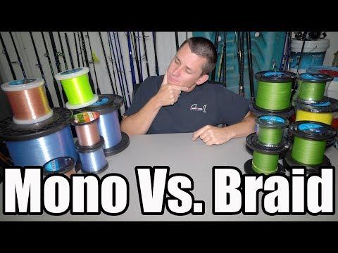 The TRUTH! Mono VS. Braided Fishing Line!