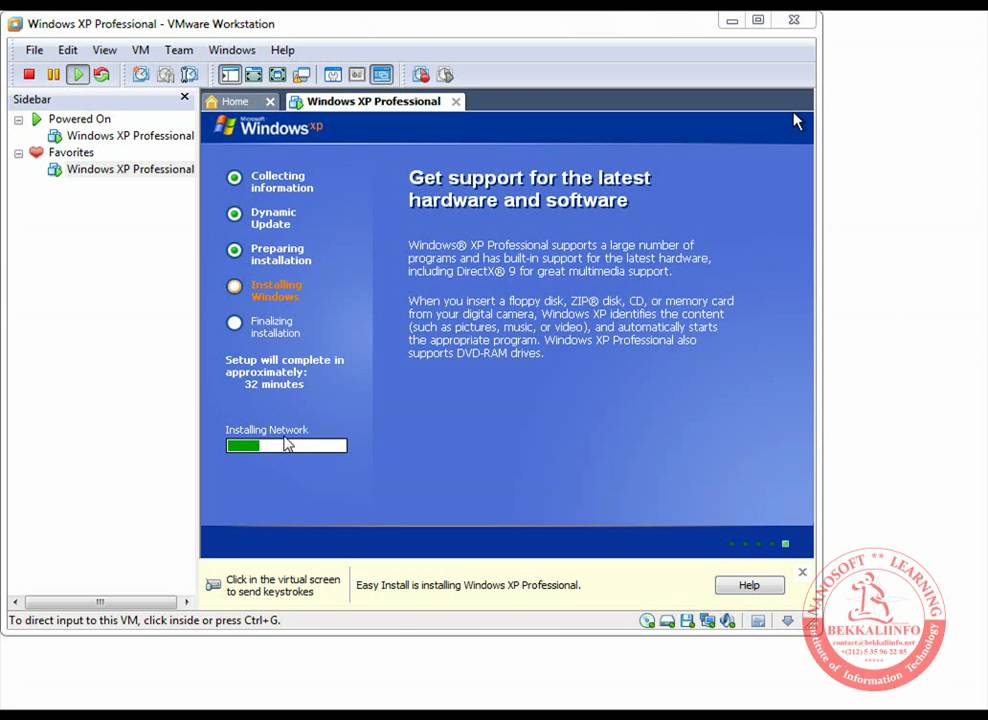 Installation of windows xp eng