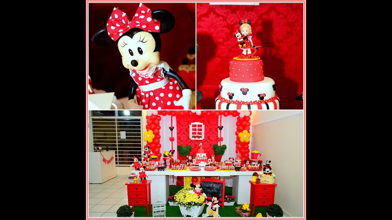 Decoracao Yotube ~ DIY DICAS DECORA u00c7ÃO MINNIE VERMELHA YouTube