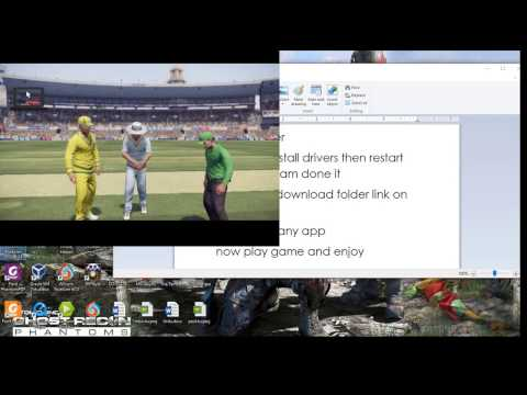 How to play Don Bradman 2017 2014 Without any joystick | Cricket14| |cricket 17|