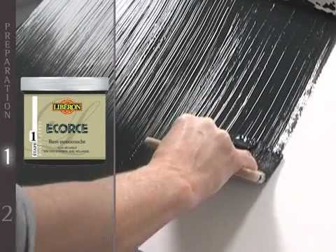 peinture ecorce lib ron sur youtube. Black Bedroom Furniture Sets. Home Design Ideas