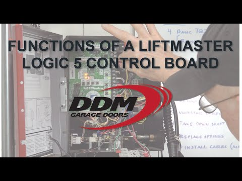 Functions Of A LiftMaster Logic 5 Control Board
