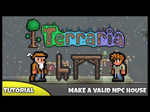 Terraria Tutorial    How To... Make An NPC House! (Valid NPC Houses)