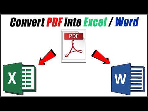Convert PDF File To Excel File Without Any Software