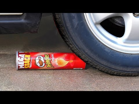 Crushing Soft & Crunchy Things by Car! - Orbeez, Pringles,  Floral Foam and More - Extreme ASMR