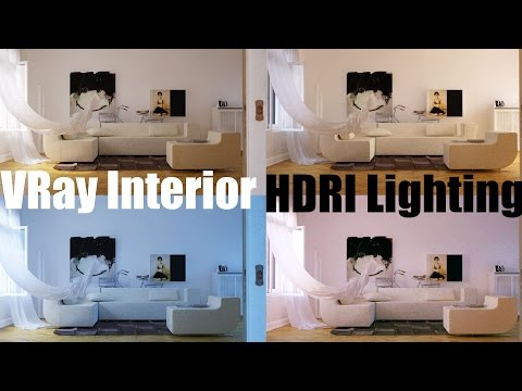 VRay Interior HDRI Lighting