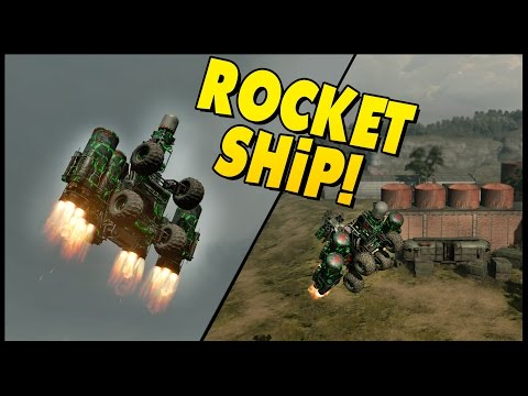ROCKET SHIP! Out Of The Map!? - Crossout - Rocket Ship Missile Launcher [Crossout Gameplay]