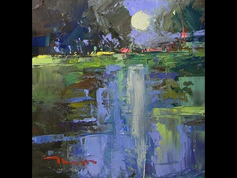 Tonalist Style Oil Painting With Palette Knife and Brush by Artist JOSE TRUJILLO
