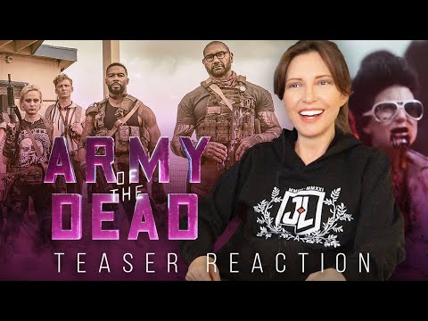 ARMY OF THE DEAD Teaser Trailer Reaction (I LOVE ZOMBIES!)
