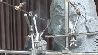 Работа с пунктир-машиной (уроки скульптуры и рисунка)
