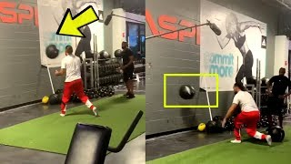 Keith Thurman Shoulder Work Outs Paying Off Pounding The Slam Ball Off Walls