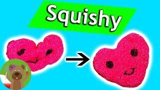 Squishy DIY słodkie serce w stylu Kawiaii | sposób na stres | masa piankowa