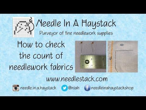 FlossTube: NIAH - How-to Count Needlework Fabrics