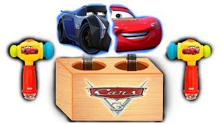Disney Car Lightning Mcqueen Wooden Toy Hummer Wrong Part Wrong Car Colors Learn 3D Kinetic Sand