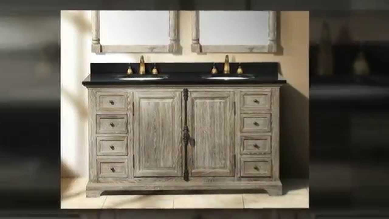 Weathered Wood Driftwood Solid Wood Bathroom Vanities By