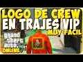 TRUCOS GTA 5 ONLINE - PONER LOGO DE CREW EN TRAJES VIP - GTA 5 PS4, PC Y XBOX ONE