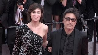 Laetitia Casta, Charlotte Gainsbourg et Ivan Attal  on the red carpet in Cannes
