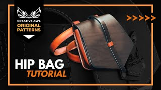 HOW TO MAKE A LEATHER BELT BAG. Making leather bag - Hunting Bag with PATTERN