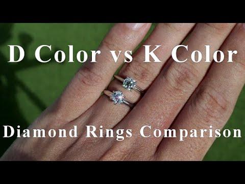 D vs K Color Diamond Ring Comparison