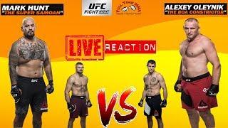 👊UFC Moscow: Mark Hunt vs Aleksei Oleinik / Jan Blachowicz vs Nikita Krylov - LIVE REACTION