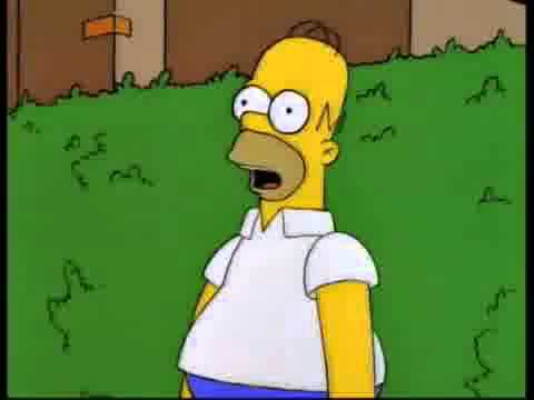 Homer disappears into bushes (Reversed) YouTube