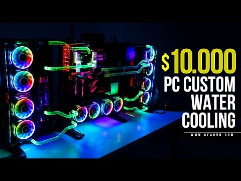 $10000 Watercooling Gaming PC | Thermaltake Core P7 - i9 7900X - SLI GTX 1080 Ti