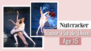 Kathryn Morgan at Age 15, Snow Pas de Deux, The Nutcracker