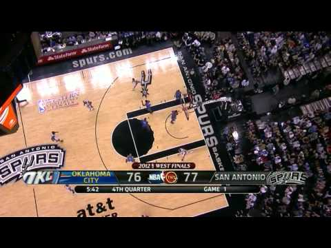 Manu Ginobili 26 points vs Thunder full highlights final conference GM1 NBA Playoff 2012.05.27 HD
