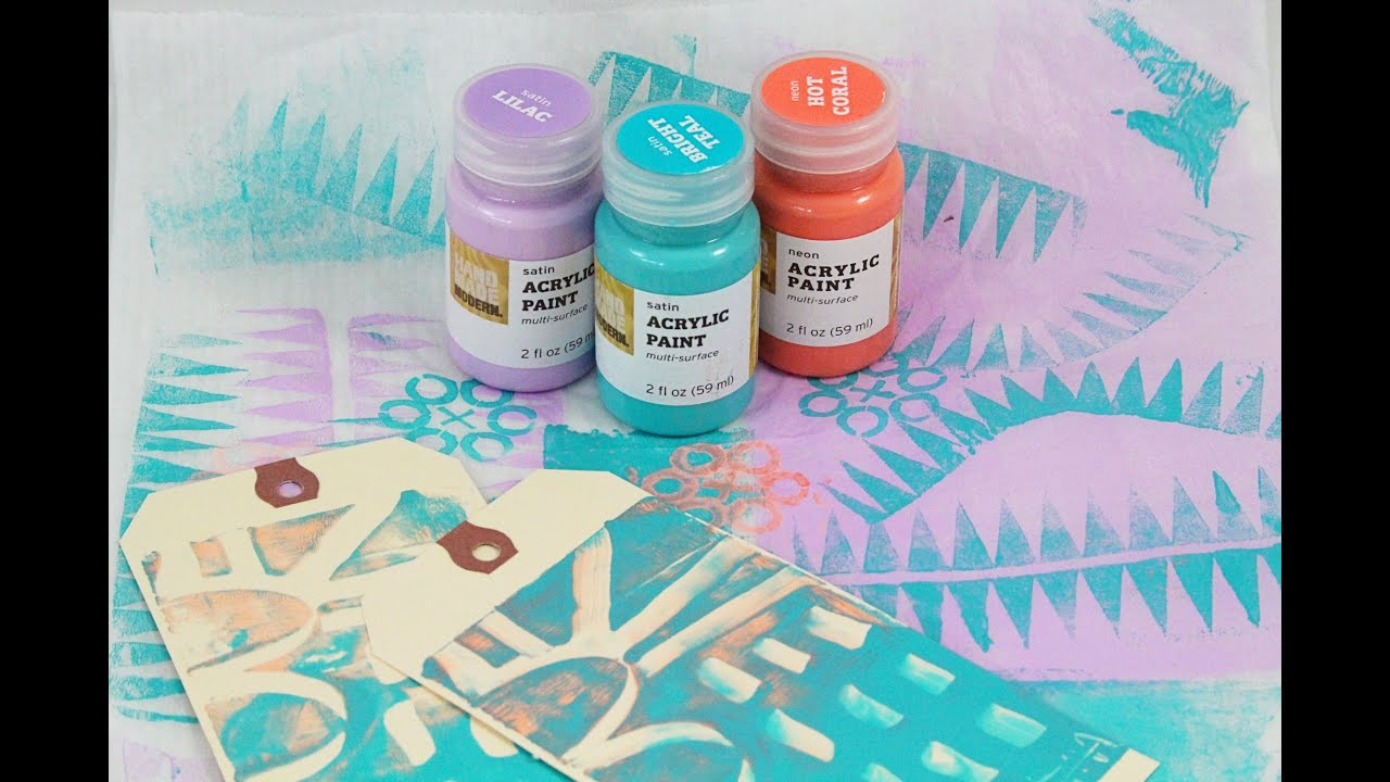 Exploring Handmade Modern Acrylic Paint From Target Youtube