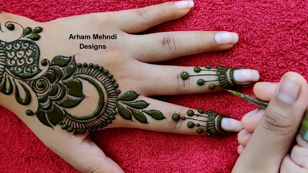 New Stylish Arabic Mehndi Design || Easy Simple Mehndi Design for Hand || Arham Mehndi Designs