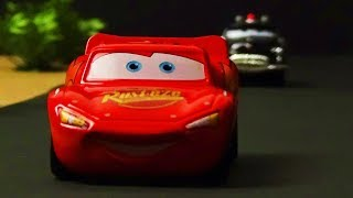Cars 1 McQueen Get Lost Scene Remake! Stop Motion Animation with Tomica & Mattel