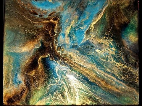 Epoxy Resin Art Pour Painting