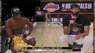 Anthony Davis & Rajon Rondo Joins GameTime - Game 6  | Lakers vs Heat | 2020 NBA Finals