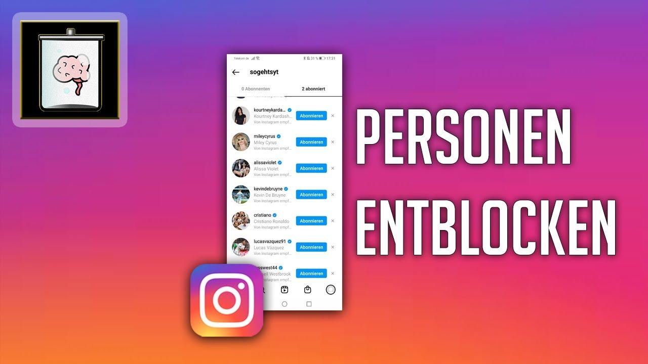 instagram entblocken geht nicht