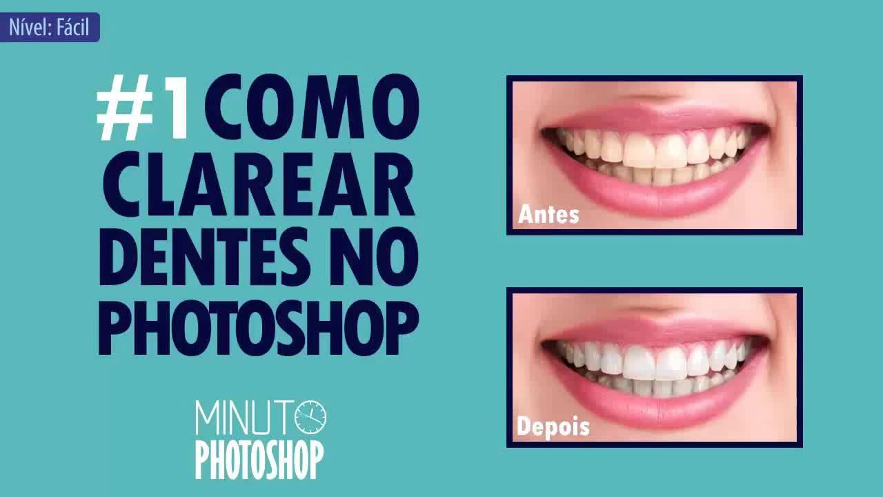 1 Como Clarear Dentes Minuto Photoshop Youtube