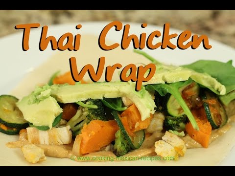 Tasty Thai Chicken Wraps With Fresh Veggies | Rockin Robin Cooks