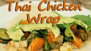Tasty Thai Chicken Wraps With Fresh Veggies | Rockin Robin Cooks
