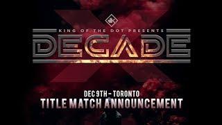 KOTD #DECADE: Announcement #1