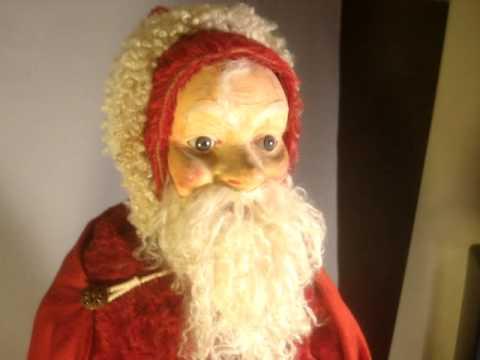 Antique German Clockwork Nodder Santa