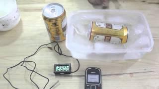 Làm lạnh bia nhanh với nước muối